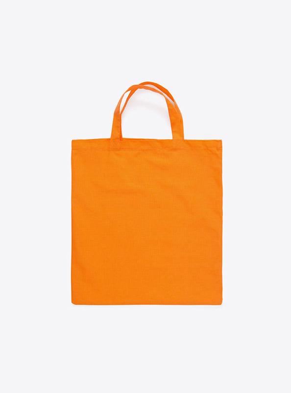 Baumwoll Tasche Unbedruckt Orange