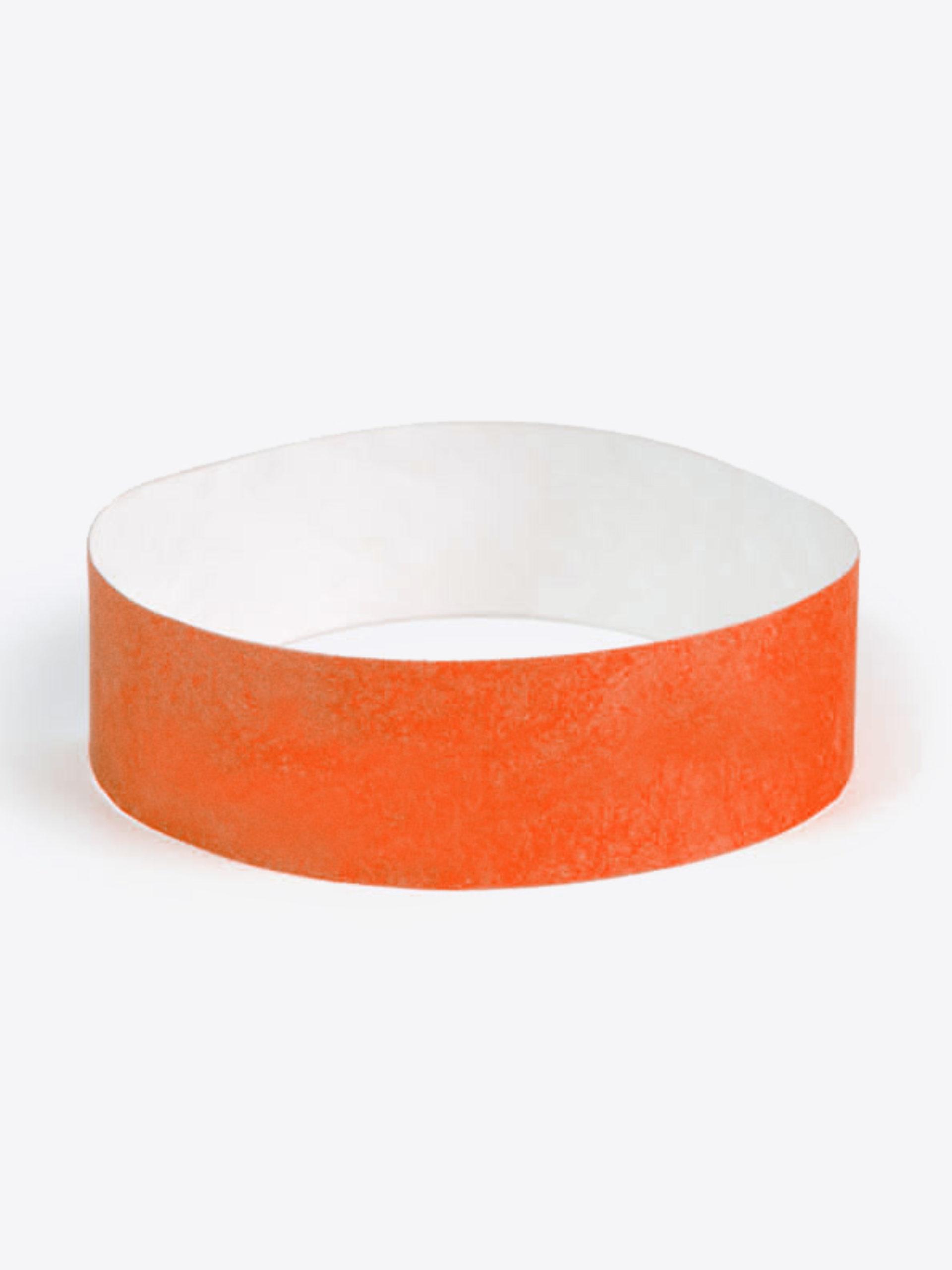 Eintrittsband Kontrollband Unbedruckt Neon Orange