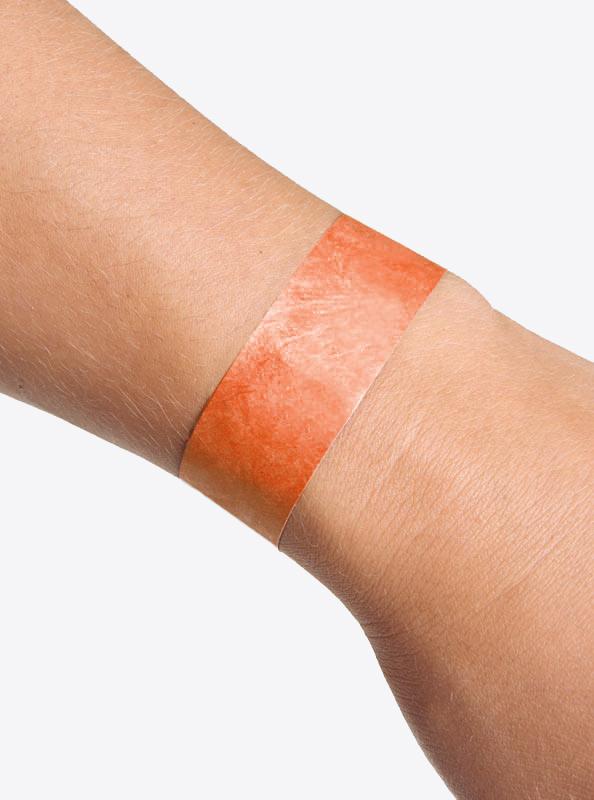 Eintrittsband Kontrollband Unbedruckt Neon Orange Einmalig