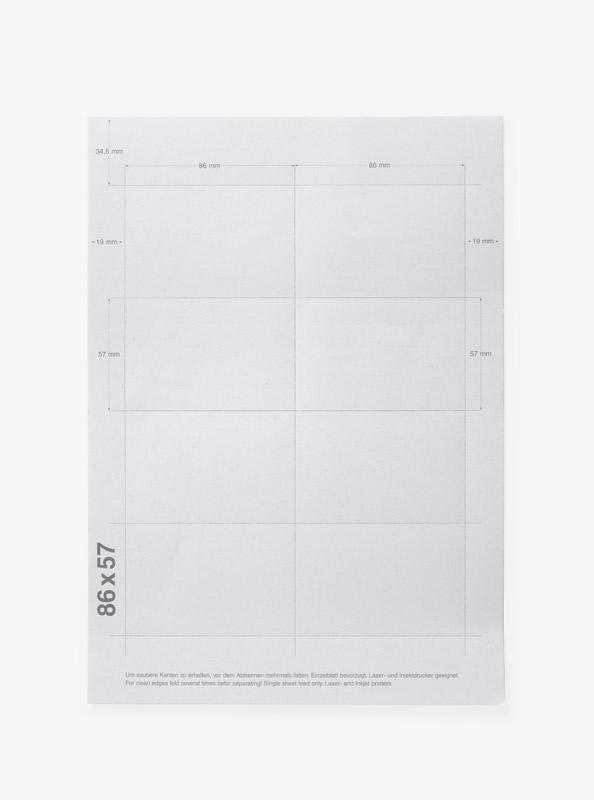 Bedruckbare Namensschilder Papier Businesscard