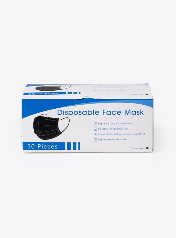 Box Einwegmasken Schwarz Bestellen
