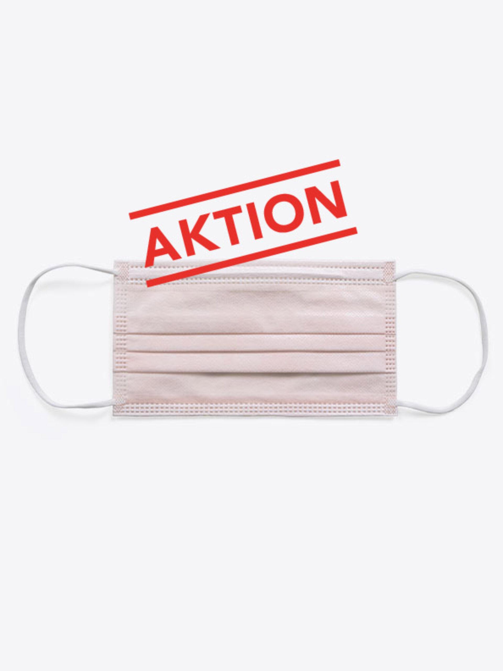 Einwegmaske Schutzmaske Farbig Rosa Aktion
