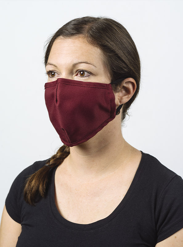 Community Maske Schutzmaske Mit Wechselfilter Rot Bordeaux Kaufen Model