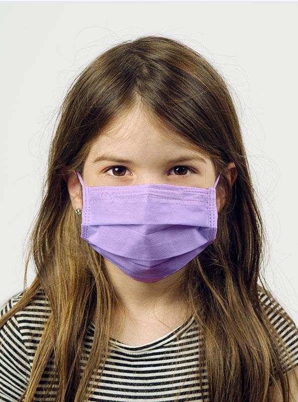 Einwegmaske Schutzmaske Farbig Kinder Violett