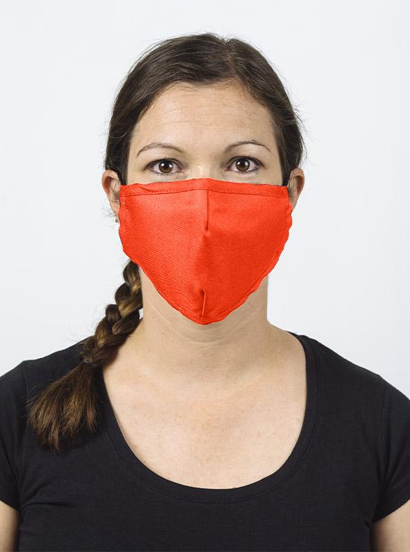 Community Maske Gesichtsschutz Mit Wechselfilter Leuchtorange Bestellen