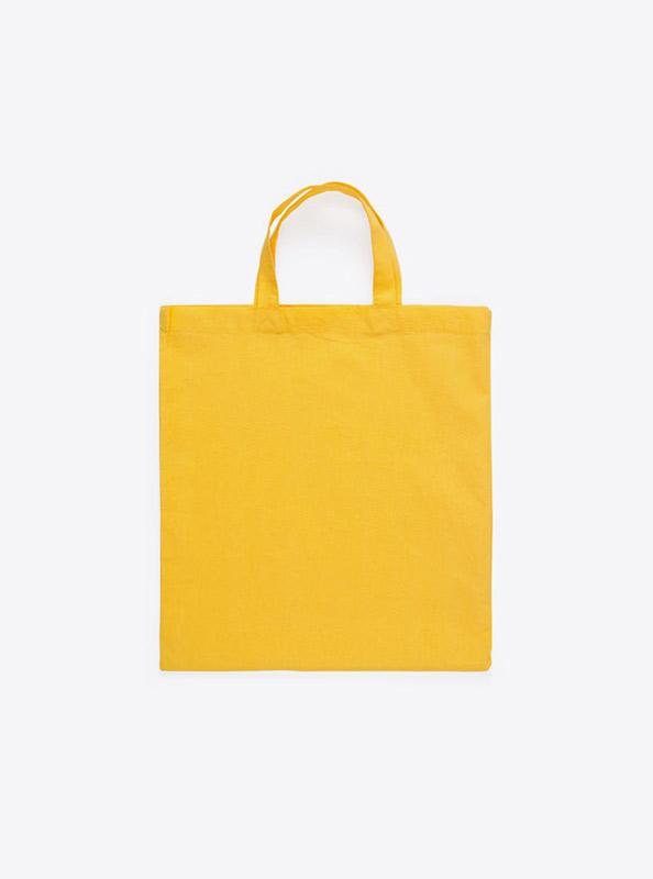 Baumwolltasche unbedruckt gelb