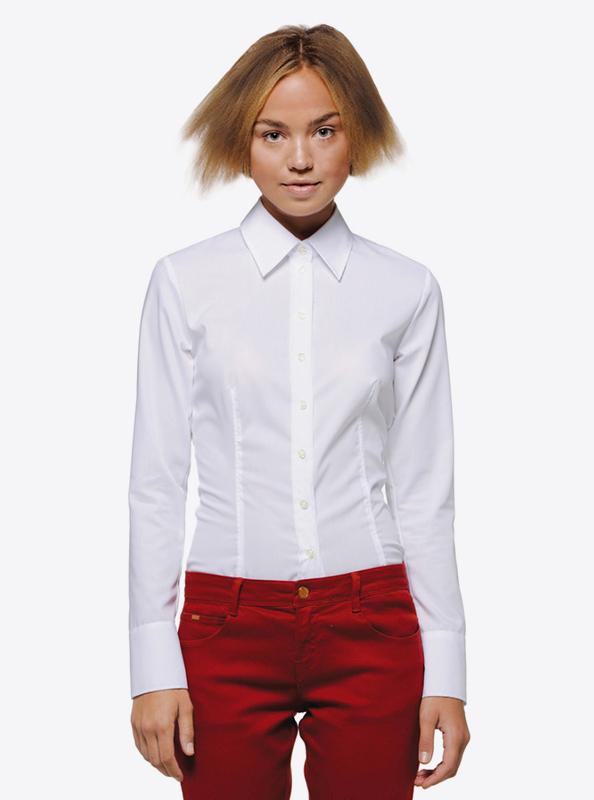Damen Langarmhemd Hakro 102