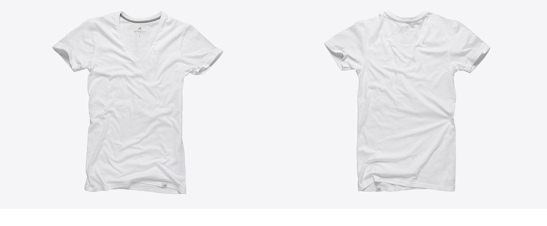 V-Neck T-Shirts bedruckt
