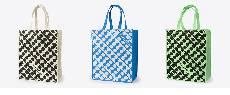 Einkaufstaschen aus Vlies.