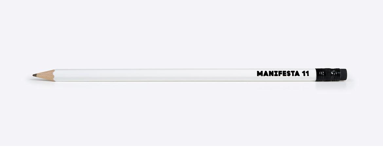 Bleistift mit Logo
