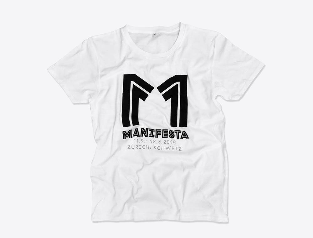 T-Shirt mit Logo bedruckt: Manifesta Zürich