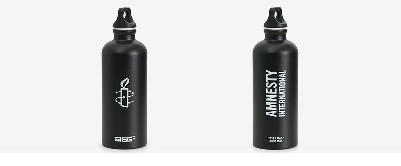 Trinkflasche mit Tampondruck bedruckt