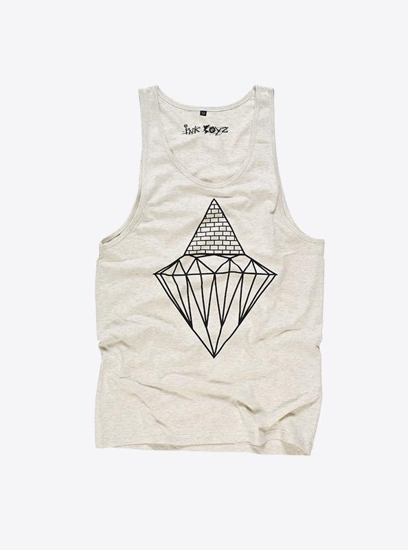 Aermelloses T-Shirt Herren vorne