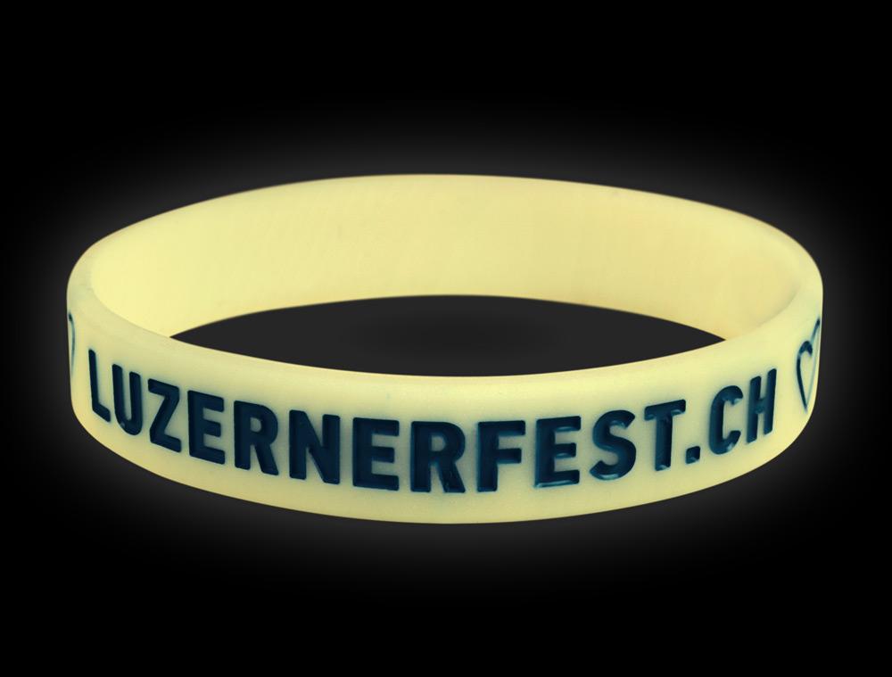 Silikonband Luzernerfest Glow in the Dark
