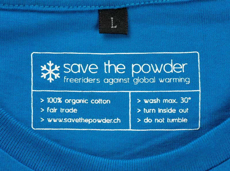 T-Shirt Sonderanfertigung gedrucktes Nackenlabel