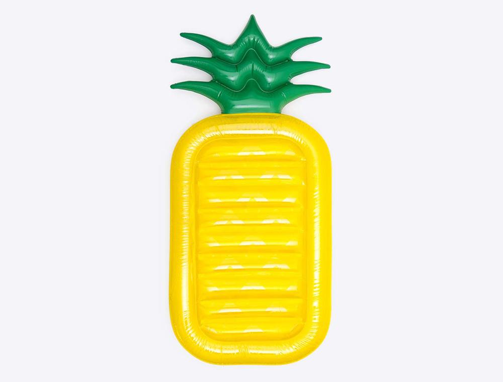 Ananas Luftmatratze mit Logo bedruckt