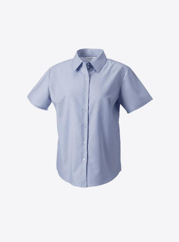 damen-hemd-kurzarm-mit-logo-drucken-besticken-russell-933f-farbe-oxford-blue