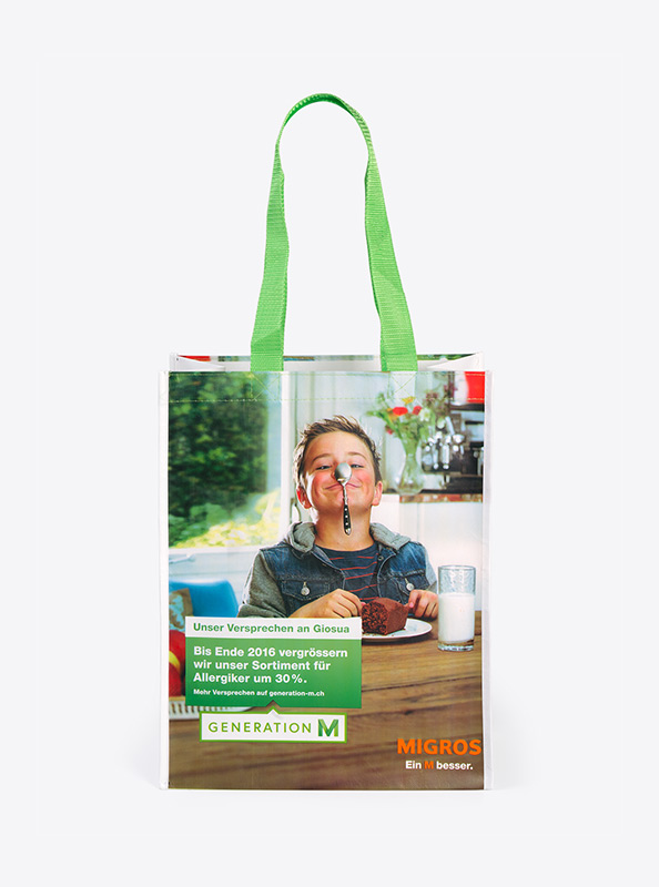 Einkaufstasche recykliertem Pet bedrucken