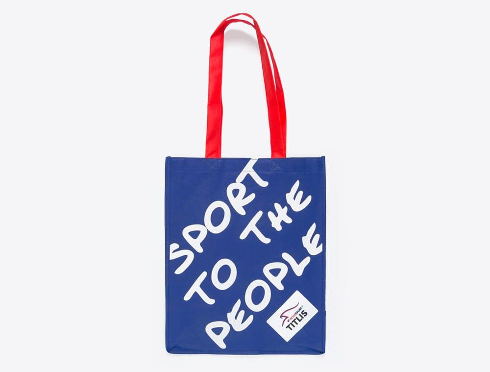 Werbeartikel im Corporate Identity Look: Shopping Bag mit Logo bedruckt