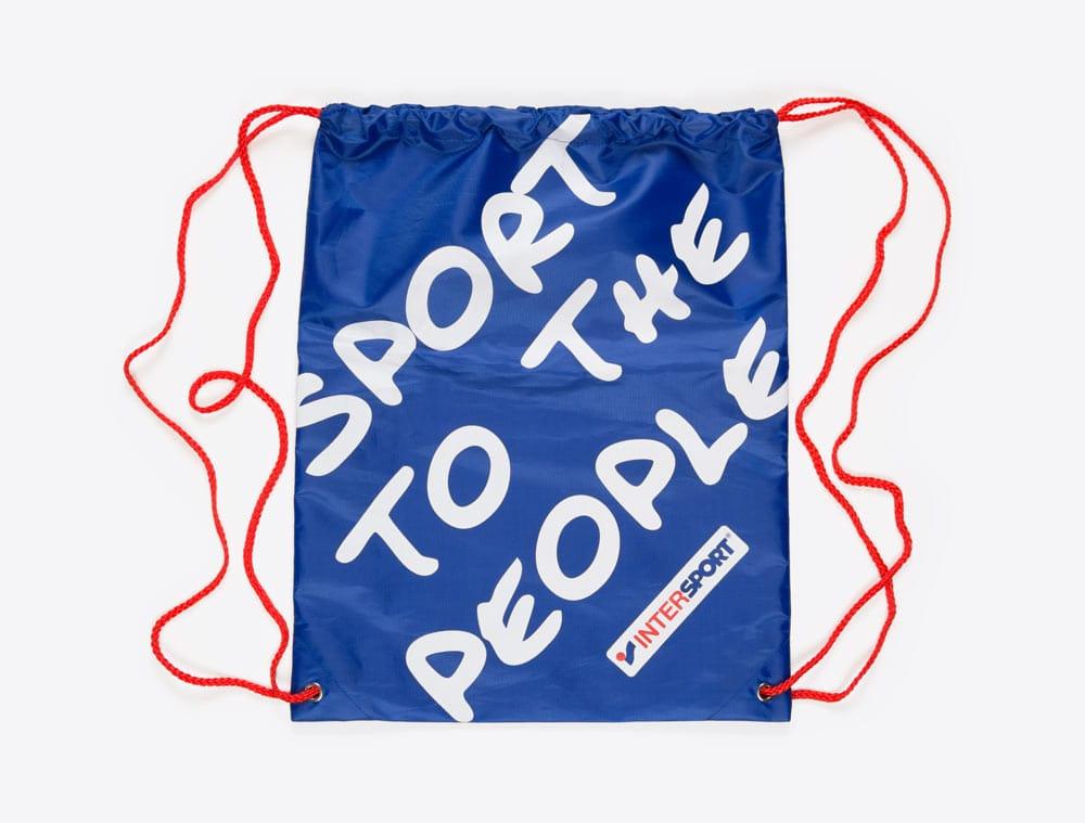 Werbeartikel im Corporate Identity Look: Turnbeutel mit Logo bedruckt