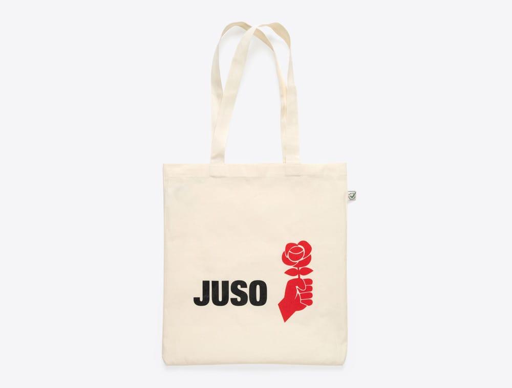 Shopping Bag mit Logo bedruckt Juso