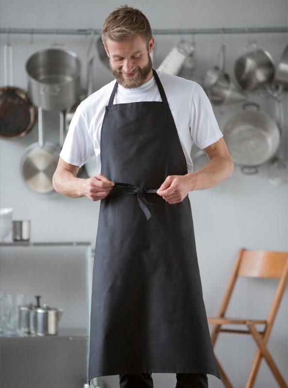 Gastro Latzschürze Bio-Baumwolle besticken