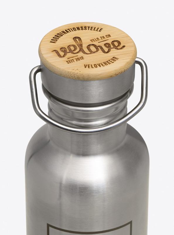 Trinkflasche aus Edelstahl Ecotanka mit Logogravur