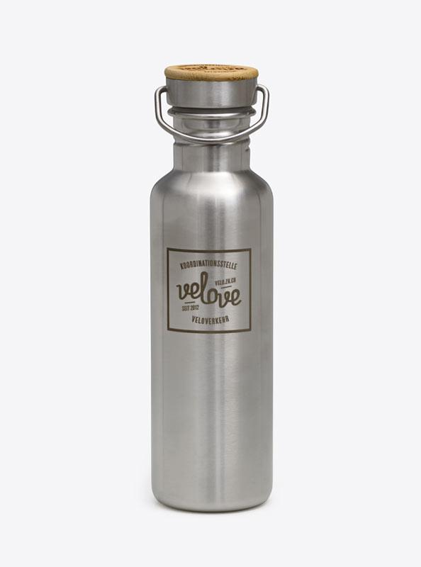 Trinkflasche aus Edelstahl Ecotanka mit Logo bedruckt