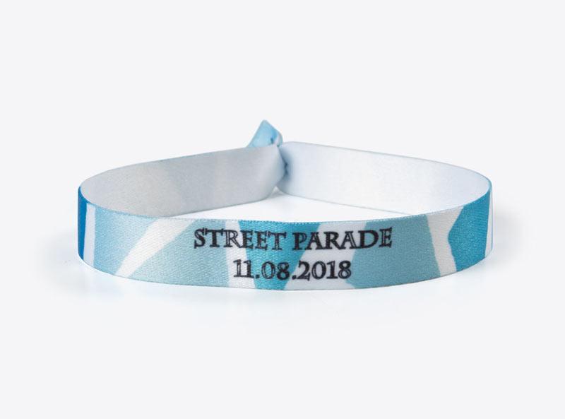 Party- und Eventband mit Logo bedruckt Streetparade 2018