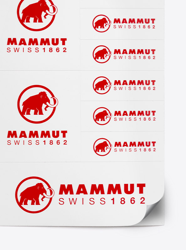 Aufklebeboegen Stickerbogen Individuell Bedruckt Bestellen Mammut