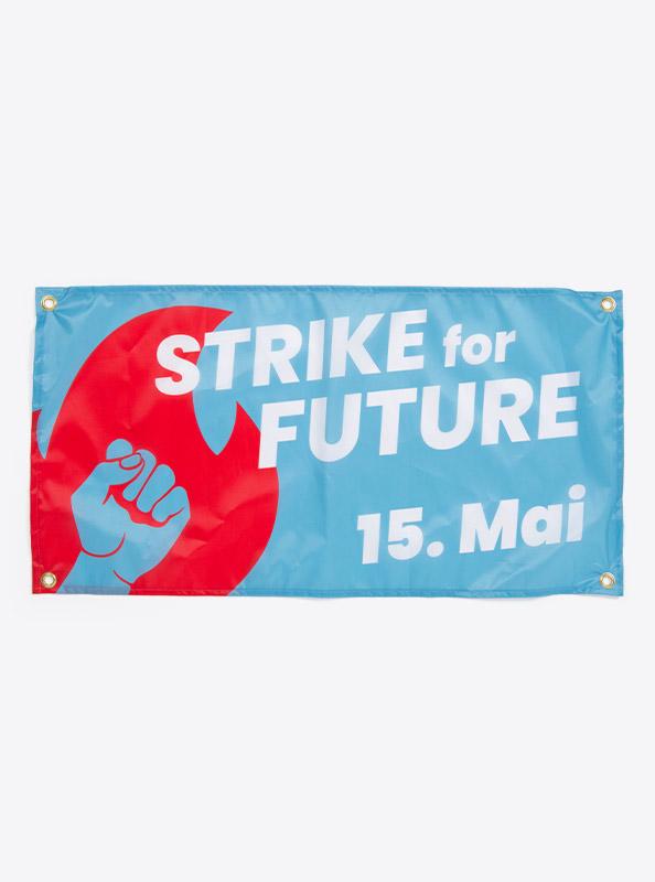 Fahne Flagge Im Digitaldruck Bedrucken Mit Sujet Klimastreik