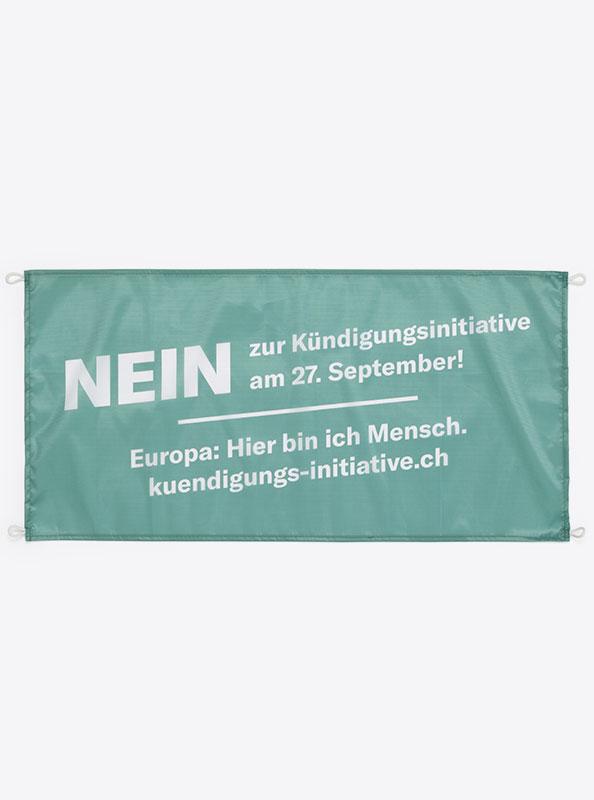 Fahne Flagge Im Digitaldruck Bedrucken Mit Sujet Kuendigungsinitiative