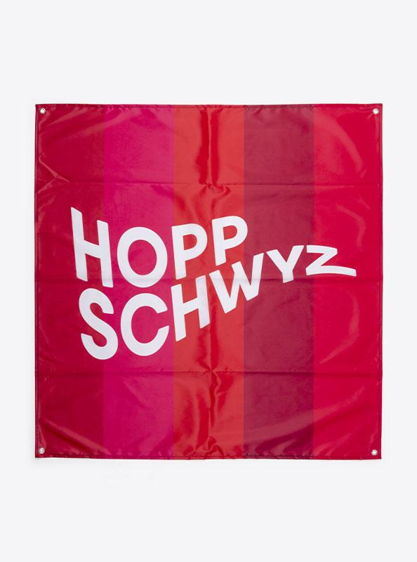 Fahne Flagge Im Digitaldruck Bedrucken Mit Sujet Unserklima Hopp Schwyz
