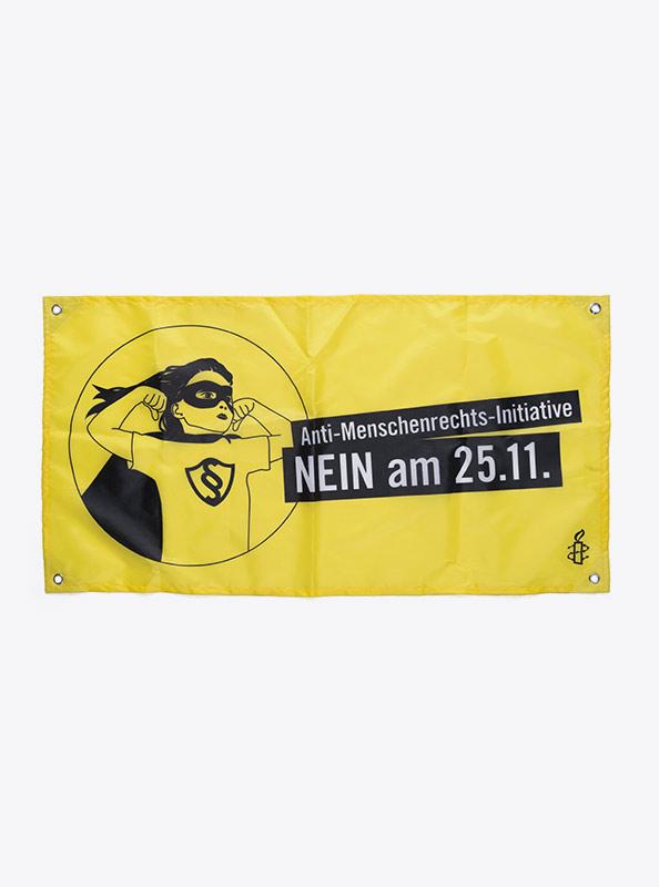Fahne Flagge Im Digitaldruck Bedrucken Anti-Menschenrechts-Initiative
