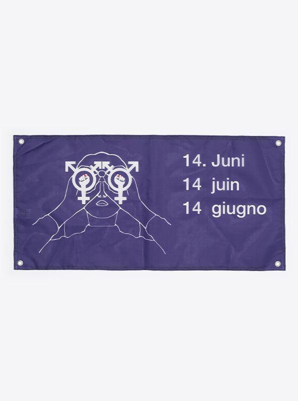 Fahne Flagge Im Digitaldruck Bedrucken Mit Sujet Frauenstreik