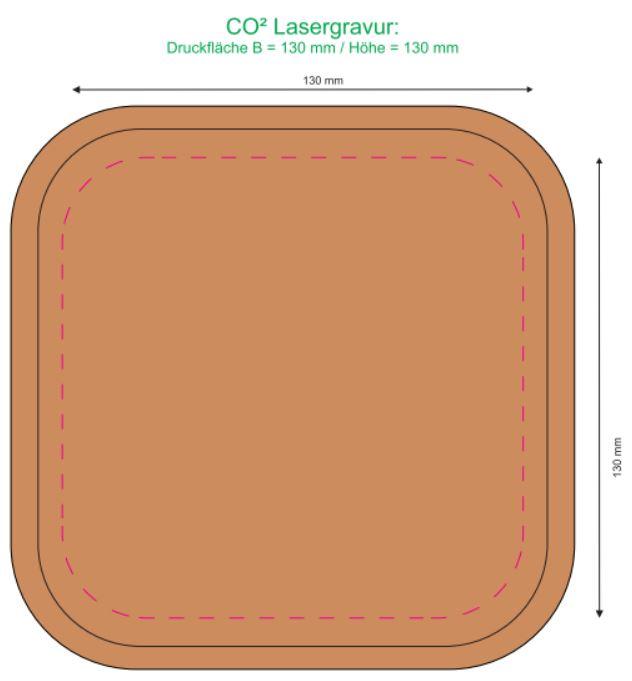 Gravurbereich Box 1000ml