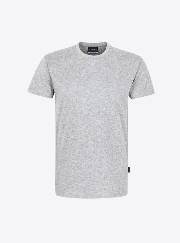 Herren T Shirt Hakro 295 Ash Meliert