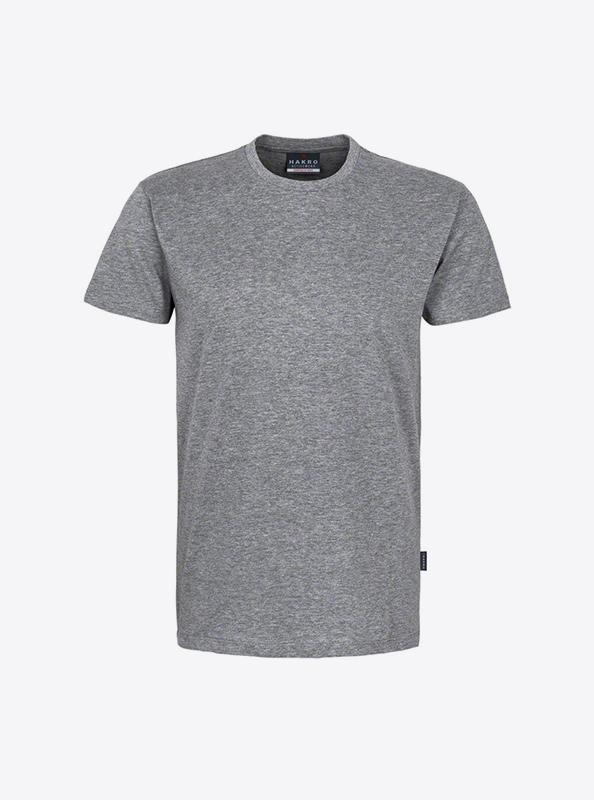 Herren T Shirt Hakro 295 Grau Meliert