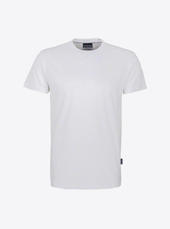 Herren T Shirt Hakro 295 Weiss