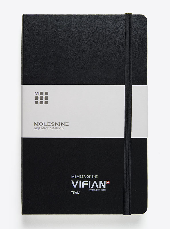 Moleskin Notizbuch Mit Logo Bedrucken A5 Vifian