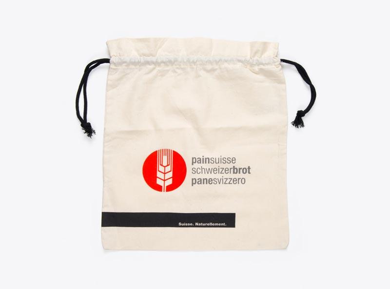 SGPVD Brotsack Buurebrot Bio Baumwolle Siebdruck Bedruckt Logo