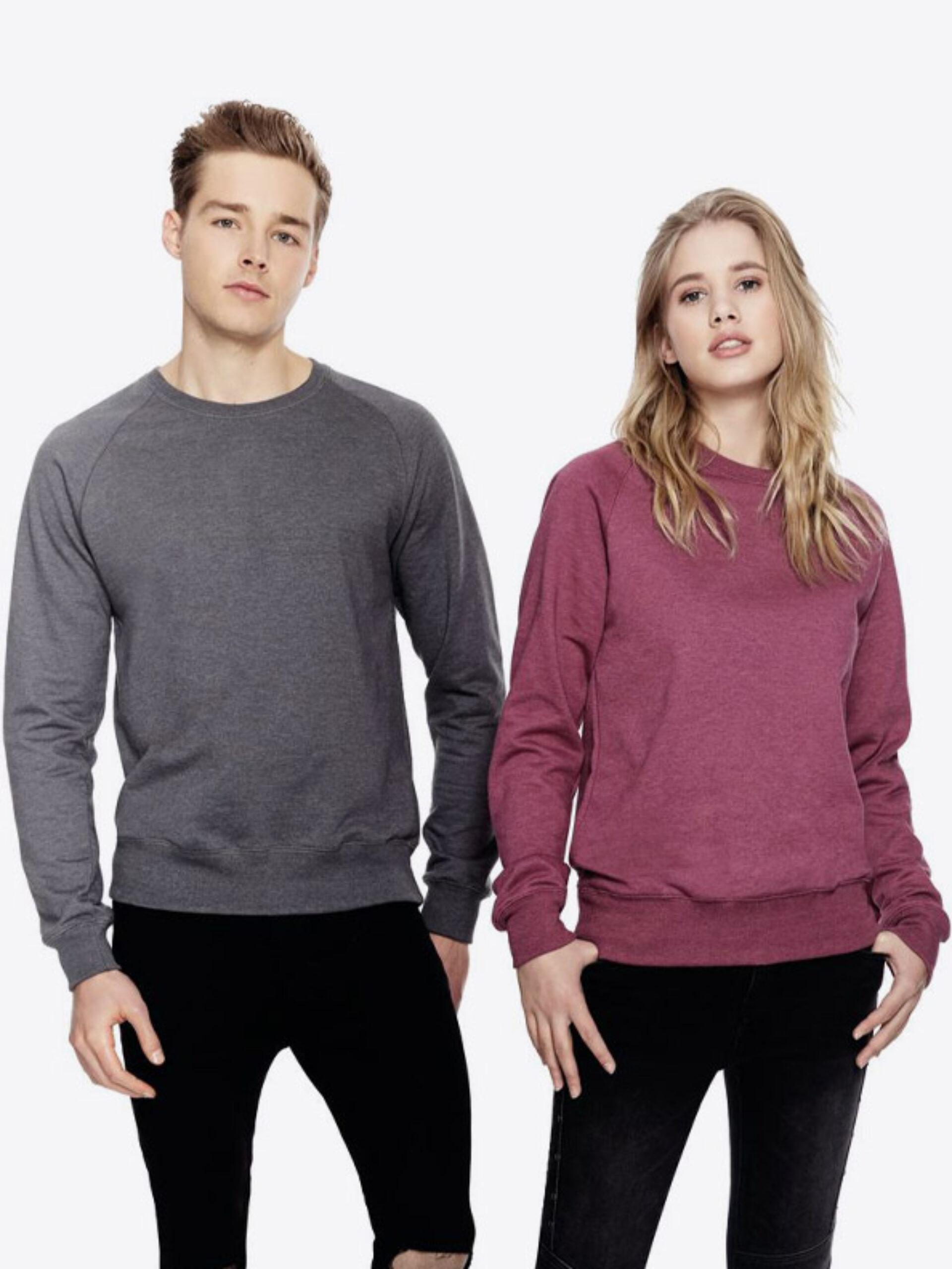 Sweatshirt Recycled Salvage Sa40 Mit Logo Bedrucken Unisex