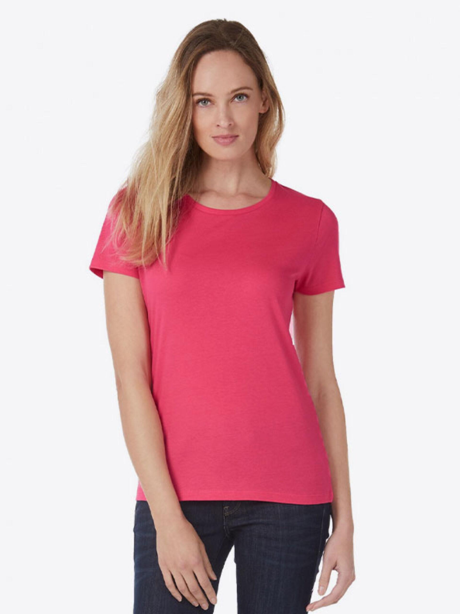 T Shirt B&C E150 Damen Budget Baumwolle Mit Logo Siebdruck