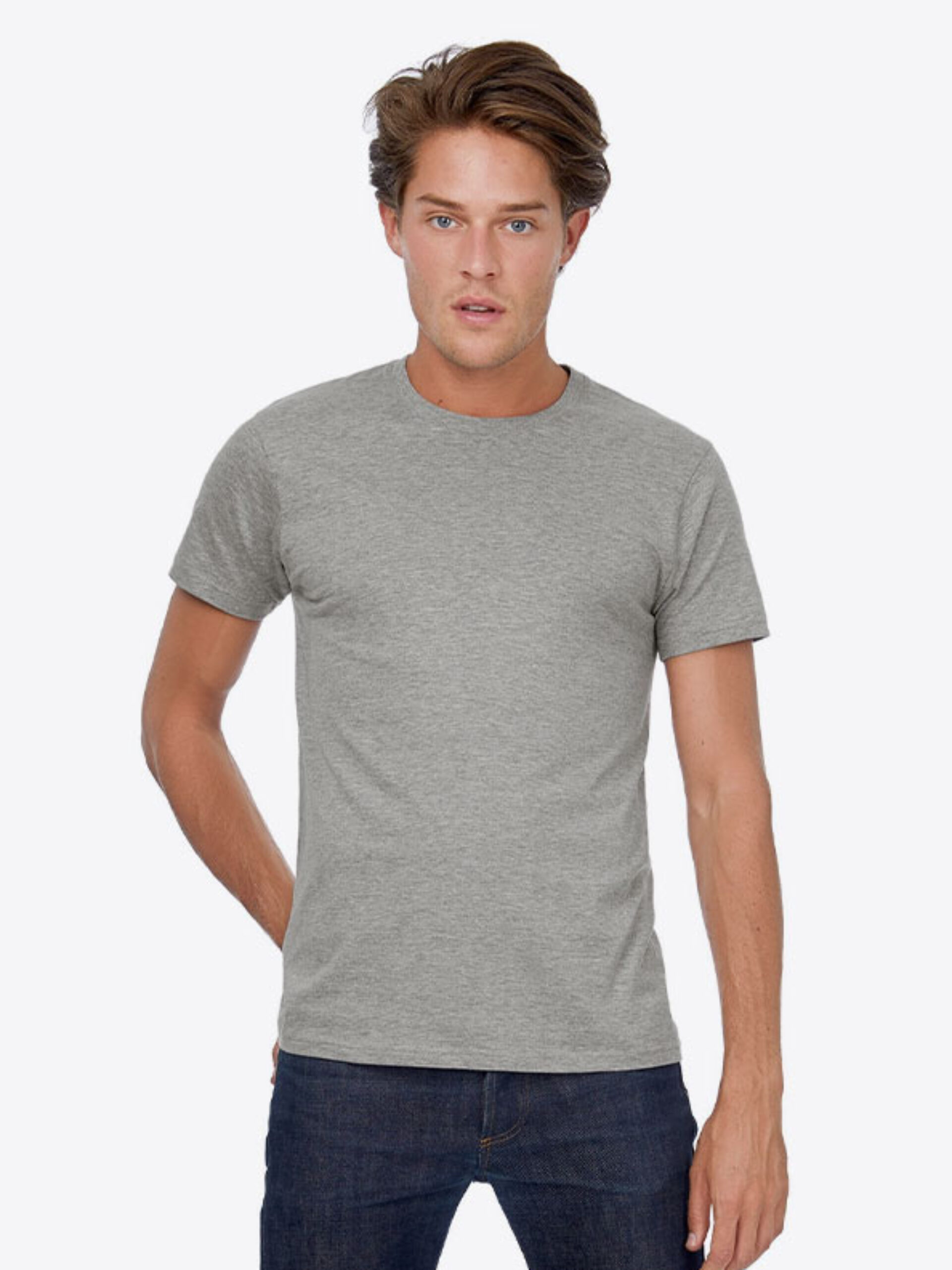 T Shirt B&C E150 Herren Budget Baumwolle Mit Logo Siebdruck