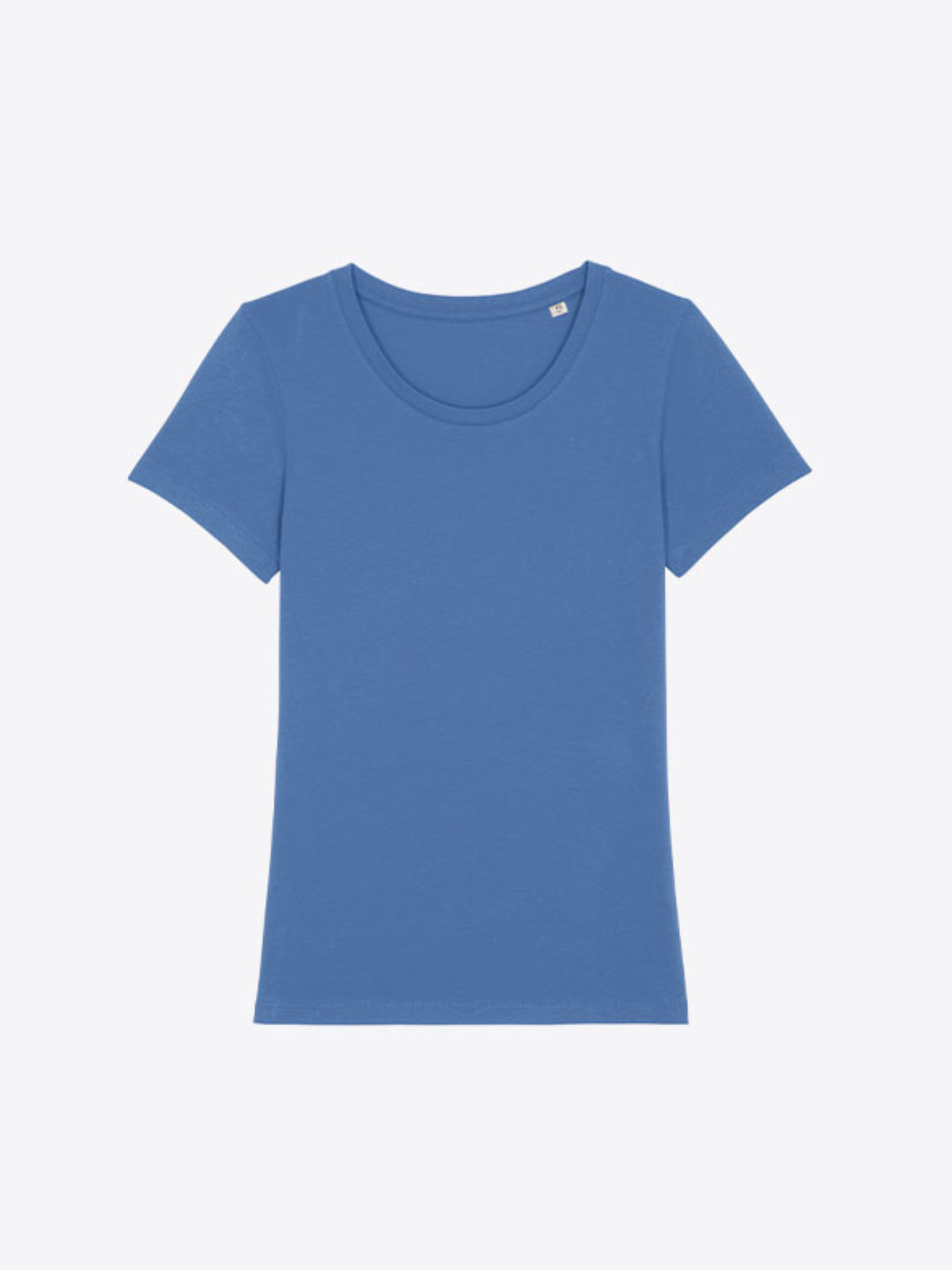 T Shirt Stella And Stella Expresser Bio Baumwolle Mit Logo Siebdruck Bright Blue
