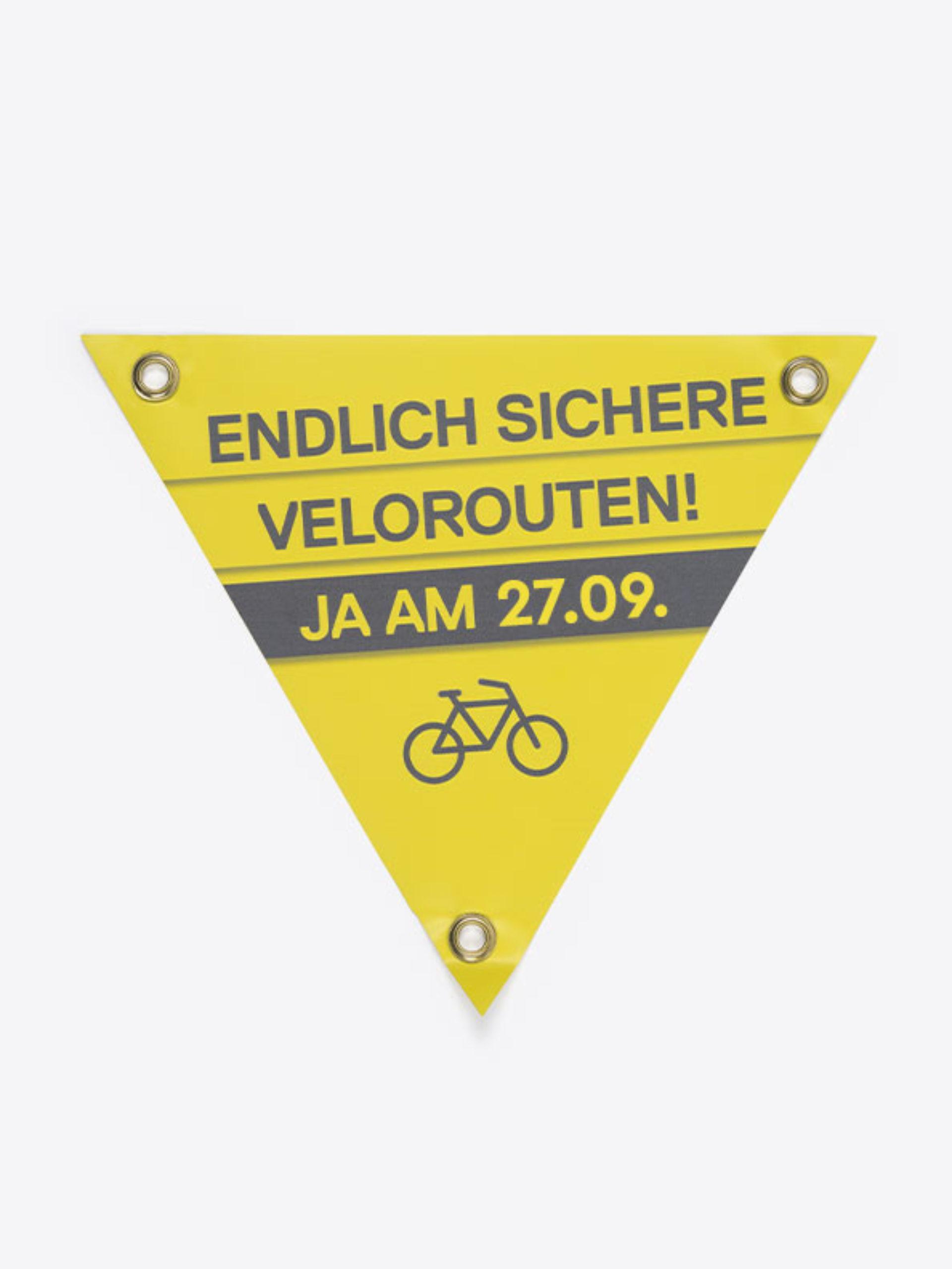 Velo Dreieck Bedrucken Mit Logo Front
