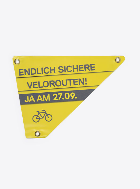 Velo Dreieck Bedrucken Mit Logo Links
