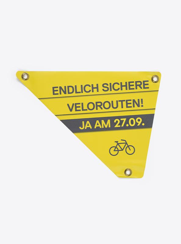 Velo Dreieck Bedrucken Mit Logo Rechts