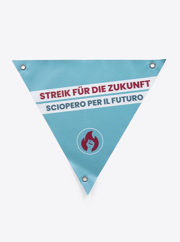 Velo Dreieck Bedrucken Mit Motiv Klimastreik
