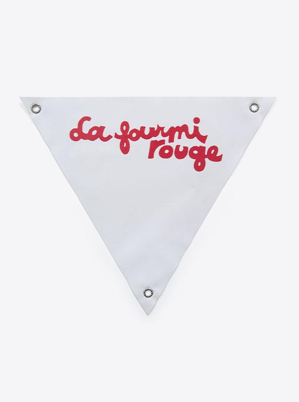 Velo Dreieck Bedrucken Mit Motiv La Fourmi Rouge